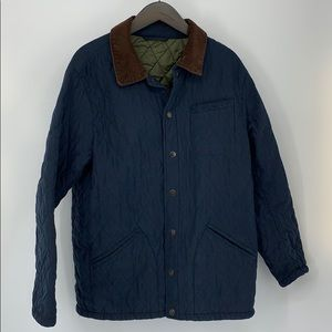 Orvis Navy Quilted Jacket. Sz. L
